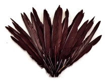 1/4 Lbs - Brown Duck Pointer Primary Wing Wholesale Feathers (Bulk)