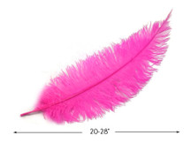 "10 Pieces - 20-28"" Hot Pink Ostrich Spads Large Wing Feathers"