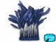 Dark blue trimmed feathers