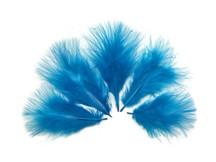 1/4 Lb - Turquoise Blue Turkey Marabou Short Down Fluffy Loose Wholesale Feathers (Bulk)