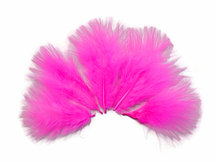1/4 Lb - Hot Pink Turkey Marabou Short Down Fluffy Loose Wholesale Feathers (Bulk)