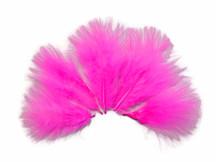 1/4 Lb - Hot Pink Turkey Marabou Short Down Fluffy Loose Wholesale Feathers (Bulk)