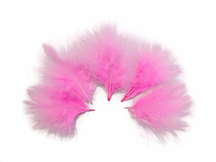 1/4 Lb - Candy Pink Turkey Marabou Short Down Fluffy Loose Wholesale Feathers (Bulk)