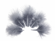 1/4 Lb - Silver Gray Turkey Marabou Short Down Fluffy Loose Wholesale Feathers (Bulk)
