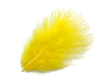 1 Pack - Yellow Turkey Marabou Short Down Fluff Loose Feathers 0.10 Oz.