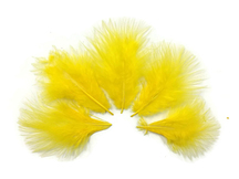 1/4 Lb - Yellow Turkey Marabou Short Down Fluffy Loose Wholesale Feathers (Bulk)