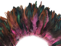 Multicolor fluffy sturdy dyed pink feathers