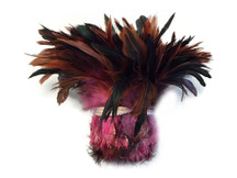 Wholesale Strip of Soft Sturdy Multicolor Rooster Tail Feathers