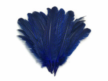 Dyed blue spotted feathers for crafts