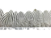 Black and white stripe short feather strip for sewing
