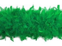 2 Yards - Kelly Green Heavy Weight Chandelle Feather Boa | 80 Gram