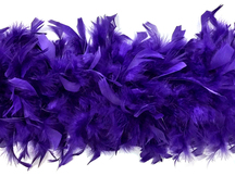 2 Yards - Eggplant Heavy Weight Chandelle Feather Boa | 80 Gram