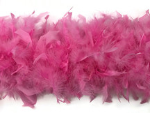 2 Yards - Candy Pink Heavy Weight Chandelle Feather Boa | 80 Gram