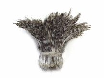 White and gray patterned feathers