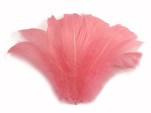 "1/4 Lb - 2-3"" Coral Goose Coquille Loose Wholesale Feathers (Bulk)"