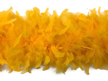 2 Yards - Golden Yellow Heavy Weight Chandelle Feather Boa | 80 Gram