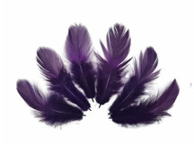 Purple Colored Dyed fluffy feathers for crafts, costumes, decoration, wedding