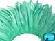 Aqua fluffy soft small strip of feathers