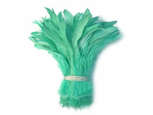 Light blue green silky feathers