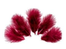 1/4 Lb - Burgundy Turkey Marabou Short Down Fluffy Loose Wholesale Feathers (Bulk)