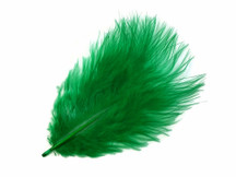 1 Pack - Kelly Green Turkey Marabou Short Down Fluff Loose Feathers 0.10 Oz.
