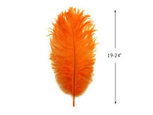 "10 Pieces - 19-24"" Orange Ostrich Dyed Drabs Body Feathers"
