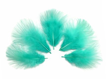 1/4 Lb - Aqua Blue Turkey Marabou Short Down Fluffy Loose Wholesale Feathers (Bulk)