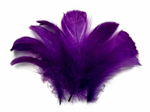 "1/4 Lb - 2-3"" Purple Goose Coquille Loose Wholesale Feathers (Bulk)"