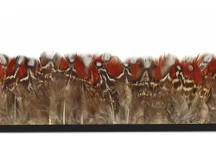 Rare Brown and Red Feather trim spotted and striped for crafts, sewing, costumes.