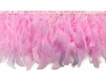 1 Yard – Light Pink Chandelle Turkey Fluffy Feather Trim