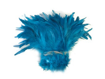 Light Bright Blue Sky Blue Strip of fluffy, soft feathers for sewing, crafts, costumes, and decor.