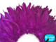 Purple fluffy short feather strip for costumes and sewing