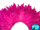 Bright pink fluffy feathers for costumes and sewing