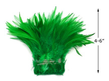 """1 Yard – 4-6"""" Dyed Kelly Green Strung Chinese Rooster Saddle Wholesale Feathers (Bulk)"""