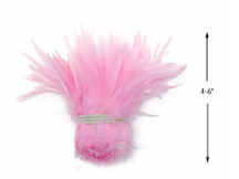 1 Yard - Light Pink Strung Chinese Rooster Saddle Wholesale Feathers (Bulk)