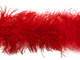 1 Piece - Red Ostrich Feather Boa 3 Ply soft fluffy wispy for costumes and decoration