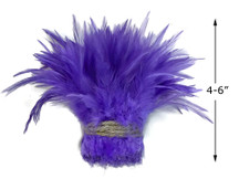 """1 Yard – 4-6"""" Dyed Lavender Strung Chinese Rooster Saddle Wholesale Feathers (Bulk)"""