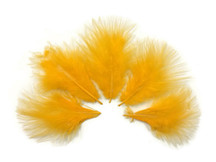 1/4 Lb - Golden Yellow Turkey Marabou Short Down Fluffy Loose Wholesale Feathers (Bulk)