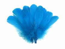 1/4 Lb - Turquoise Blue Goose Nagoire Wholesale Feathers (Bulk)