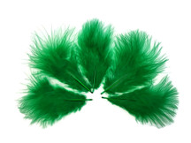 1/4 Lb - Kelly Green Turkey Marabou Short Down Fluffy Loose Wholesale Feathers (Bulk)