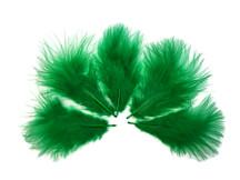 1/4 Lb - Kelly Green Turkey Marabou Short Down Fluffy Loose Wholesale Feathers (Bulk)