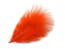 1 Pack - Orange Turkey Marabou Short Down Fluff Loose Feathers 0.10 Oz.