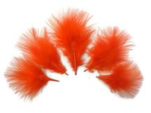 1/4 Lb - Orange Turkey Marabou Short Down Fluffy Loose Wholesale Feathers (Bulk)