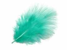 1 Pack - Aqua Blue Turkey Marabou Short Down Fluff Loose Feathers 0.10 Oz