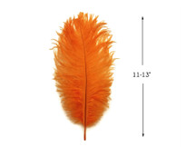 """10 Pieces - 11-13"""" Orange Bleached & Dyed Ostrich Drabs Body Feathers"""