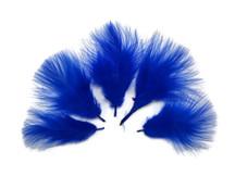 1/4 Lb - Royal Blue Turkey Marabou Short Down Fluffy Loose Wholesale Feathers (Bulk)