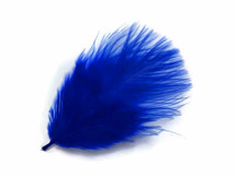 1 Pack - Royal Blue Turkey Marabou Short Down Fluff Loose Feathers 0.10 Oz.
