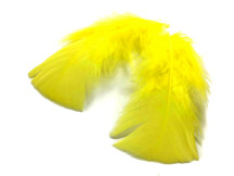 1 Pack - Yellow Dyed Turkey T-Base triangle Body Plumage Feathers 0.50 Oz.