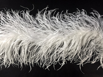 2 Yards - 5 Ply WHITE Ostrich Feather Boa