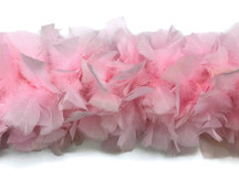 2 Yards - Light Pink Heavy Weight Turkey Flat Feather Boa, 150 Gram
